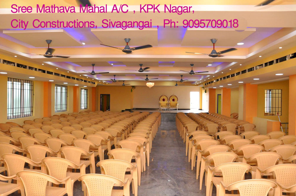 sivagangai marriage halls booking