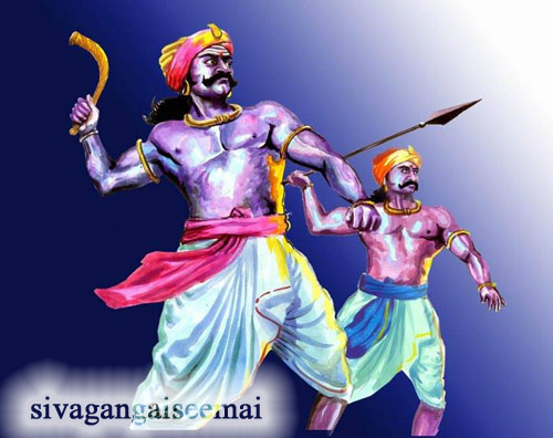 maruthu brothers used valari weapon