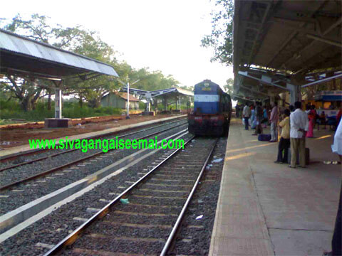 sivagangai train timings and schedule