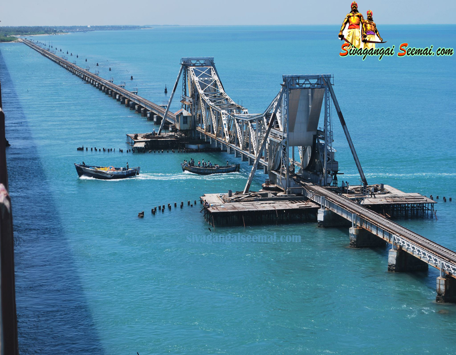 most beautiful rameswaram pamban cantilever bridge