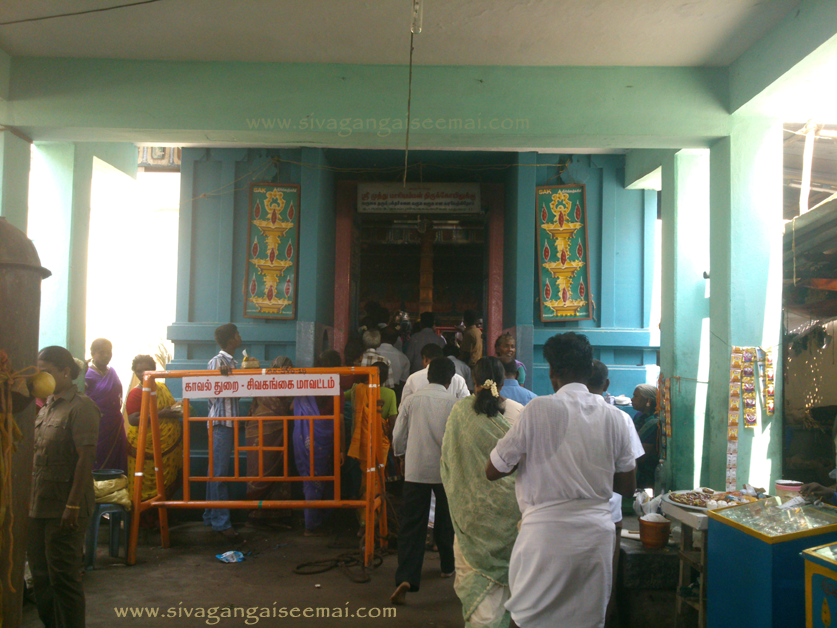 Entrance View of Sivagangai District Thayamangalam Muthumariamman Temple located in South Tamilnadu, India